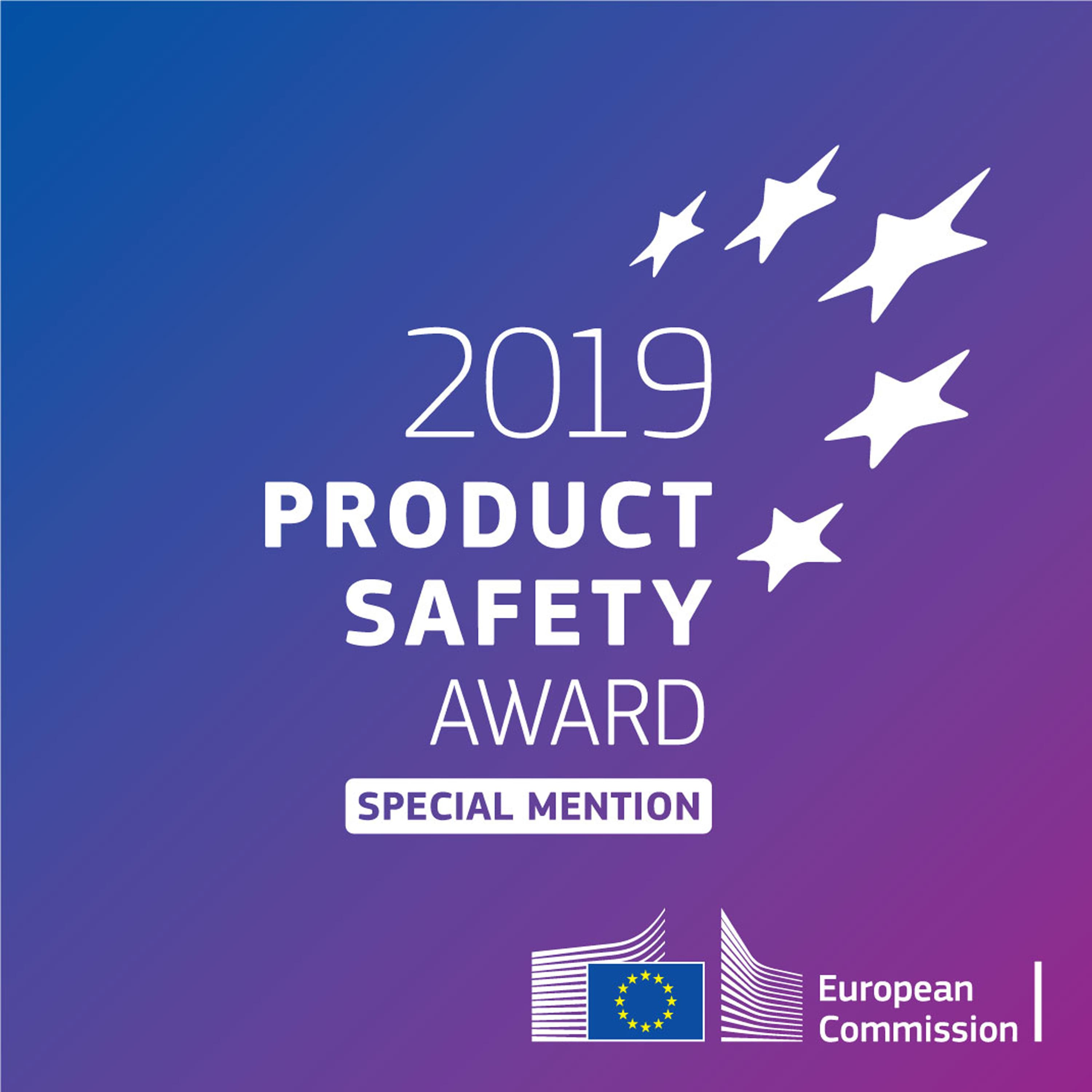 STOLTE OVER EU PRODUCT SAFETY AWARD 2019