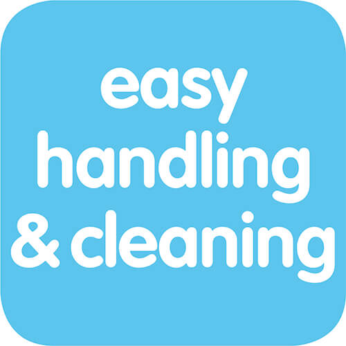 Bequem zu handhaben und zu reinigen