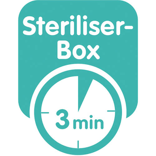 This product comes in a sterilising & carry box – for convenient and time-saving sterilising in the microwave