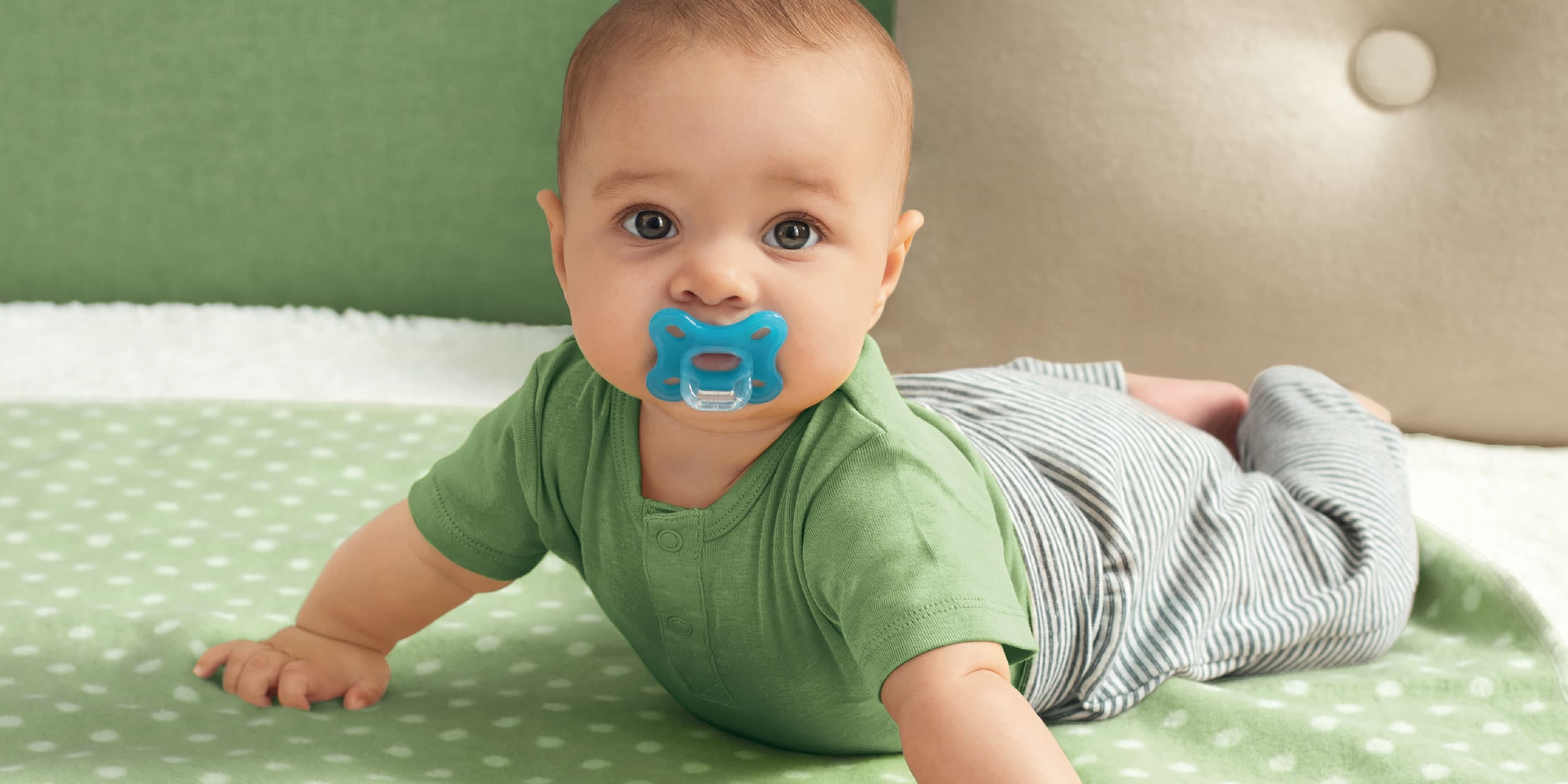 Baby with pacifier