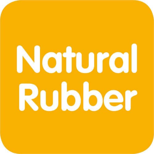 Natural Rubber: naturally soft and bite resistant