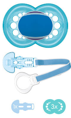 MAM Individual Combi-Box 6+ - Pacifier & Clip