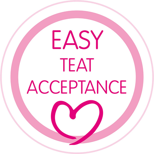 Easy nipple acceptance: extra-small orthodontic nipple is easily accepted by babies.